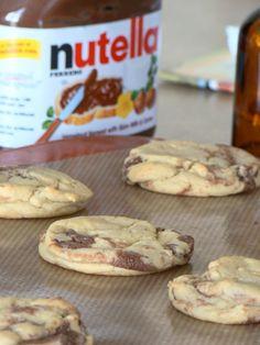 Nutella Banana Cream Pie Cookies.