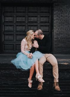 So in love.. Dusty Blue tulle skirt by Bliss Tulle. [:Kayla Jean Photo / Eliza Jane Willey]
