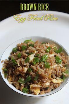 YUMMY TUMMY: Healthy Brown Rice Egg Fried Rice Recipe