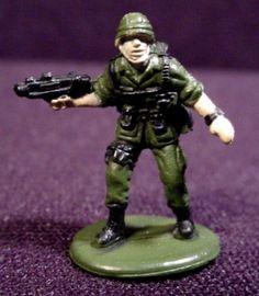 Micro Machines Military Figure Marine With Machine Gun Galoob