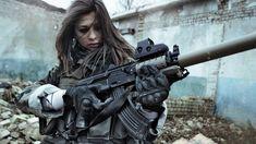 women soldiers war guns girls with guns airsoft Magpul eotech AKM silencer carbine holographic suppressor AK - Wallpaper (#2728406) / Wallbase.cc