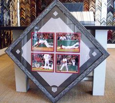 A great gift for a baseball player! It's fun to look at custom framed photos in a different angle :-)