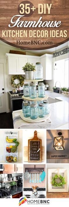 DIY Farmhouse Kitchen Decor Ideas