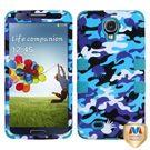 Samsung Galaxy S4 Hybrid Case - Blue Camo