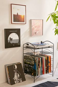 Album art may not have originally been designed to hang up on a wall, but once you see their potential, you'll never want to take them down. If you already own the records, pair them with a 12-by-12-inch frame, such as the one above from Urban Outfitters, or craft your own following the how-to on Instructables.