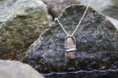 Natural jewelry from the Norwegian mountains. Stones and minerals from the river.