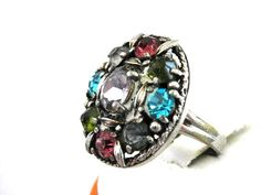 Hollycraft Pastel Ring Vintage Beautiful by victoriajamesdesigns, $55.00