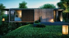 Cantilevered Conversion:  Sleek Modern Cargo Container Office