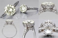 """Edwardian Engagement Ring....love!!! Nearly the same as mine, slight difference on the """"basket"""" part. Otherwise it's my ring!"""
