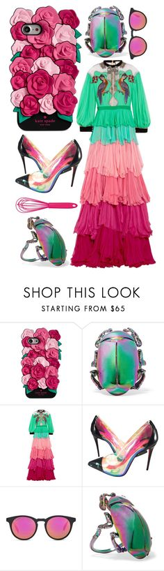 """""""Color Scheme"""" by cherieaustin ❤ liked on Polyvore featuring Kate Spade, Balenciaga, Gucci, Christian Louboutin and Kitchen Craft Colourworks"""