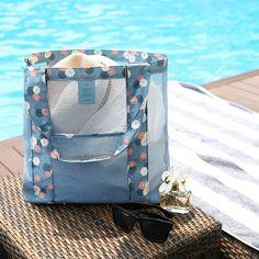 Купить товарМода Нейлон Путешествия Пляж Сетка Мешок Сетка Удобная Сумка…