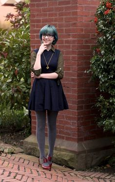 The Clothes Horse: Nerd Chic-- i would have chosen different shoes but other than that i like this outfit ^^
