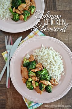 Chinese Chicken and Broccoli - A Teaspoon of Happiness