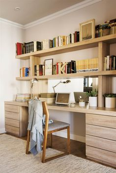 Great Home Office Ideas to Set the Creative Juices Flowing! Home Office Space, Home Office Design, Home Office Furniture, Home Office Decor, House Design, Workspace Inspiration, Home Office Organization, Home And Deco, Home Goods
