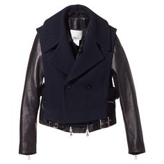 3.1 Phillip Lim moto jacket with leather sleeves