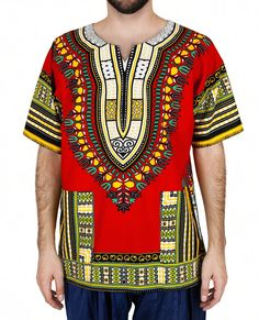 Marigold - Gateway to India Clothing, Accessories, Gifts, Home and Jewelry Dashiki Shirt, Marigold, Indian, How To Make, Mens Tops, Gifts, Clothes, Fashion, Outfits