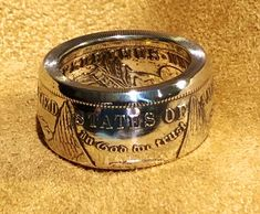 Handmade morgan silver dollar coin ring silver Men's ring anniversary gift Mens Rings Etsy, Unique Mens Rings, Mens Silver Rings, Silver Man, Rings For Men, Skull Jewelry, Old Jewelry, Unique Jewelry, Jewelry Rings