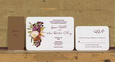 Rustic Modern Floral Wedding Invitations,Rustic Floral Wedding Invites,Fall Floral Wedding Invitation,Deep Red Floral Wedding Invite,Autumn