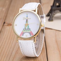 Strap+Material:+Faux+Leather Dial+Surface+material:+Glass Color:+White,Red,Purple,Black,Royal+blue Dial+shape:+Round Item+Type:+Wristwatches Waterproof:+No Movement:+Quartz Occasions:+Universal Gender:. Fancy Watches, Cute Watches, Rose Gold Watches, Women's Watches, Stylish Watches For Girls, Trendy Watches, Simple Watches, Vintage Watches Women, Beautiful Watches