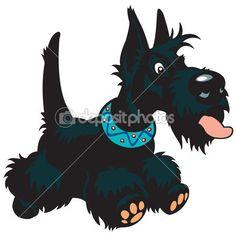Cartoon scottish dog by insima - Векторная иллюстрация