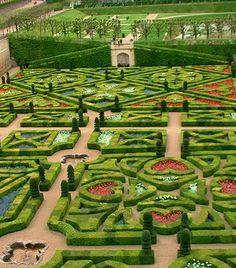 Chateau de Villandry - Francia ... i Giardini di Alice nel Paese delle Meraviglie, non vi sembra?