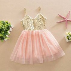 Gracie dress in peachy pink and gold
