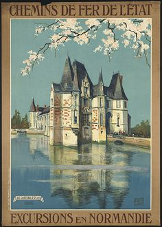 Just one of the many vintage travel posters from the Boston Public Library.