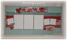 My Scrap Happy Life: Heartstrings Scrapbook Layout