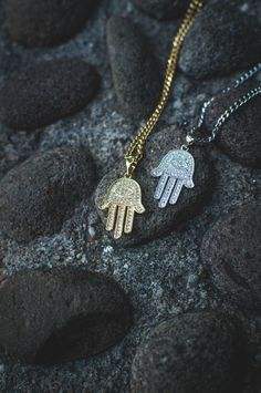 Micro Hamsa Hand Necklace