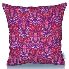 26 x 26 Square Floor Pillow Kess InHouse EBI Emporium Epoch 4 Red Green