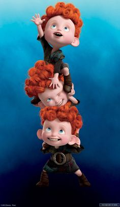 "From the upcoming Disney movie ""Brave"" absolutely adore them cutest triplets ever go eat some desserts"