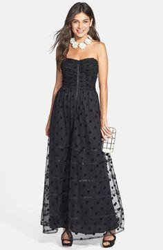 Betsey Johnson Polka Dot Mesh Gown