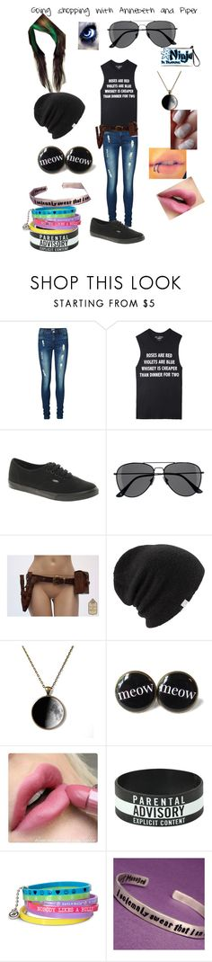 """Danny going shopping with Annebeth and Piper"" by that-dead-emo-chick ❤ liked on Polyvore featuring Vero Moda, Jac Vanek, Vans, H&M, Coal, Hot Topic and Decree"