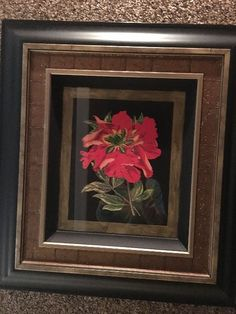 Found on EstateSales.NET: 34/ Floral multi-dimensional art work