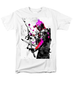 Deadpool Grunge T-Shirt featuring the mixed media Deadpool Grunge by Daniel Janda
