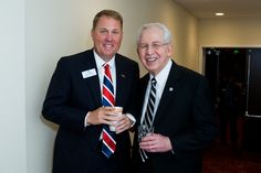 Ole Miss head coach Hugh Freeze and SEC Commissioner Mike Slive at the SEC Network announcement
