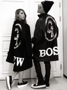 G-Dragon (Big Bang) & CL (2NE1); One of a Kind Concert gear. She looks SO tiny next to him