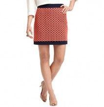 Circle Lace Overlay Shift Skirt