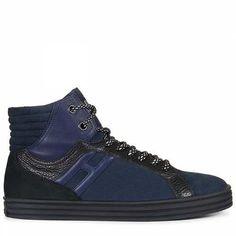 Prezzi e Sconti: #Hogan rebel sneakers r141 Blau/schwarz  ad Euro 285.00 in #Hogan rebel #Schuhe schuhe