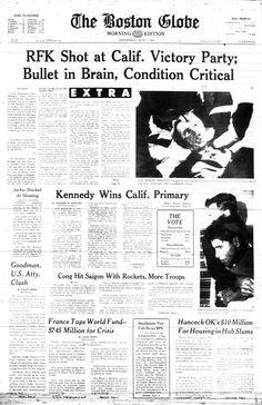 1968- Robert Kennedy assasinated