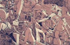 Juxtapoz Magazine - Erik Svetoft Illustration