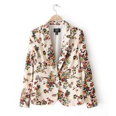 2013 Autumn Fashion print long - sleeve one button blazer suit outerwear coat 002 - ZZKKO http://zzkko.com/n536647  22.78