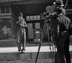 "charlie chaplin  .  On the set of ""City Lights"""