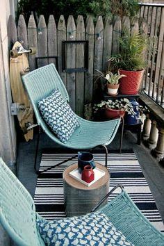 Beautiful balcony design in blue - 30 ideas