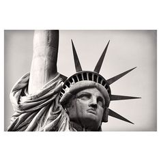 New York Photography, Black and White Photography, NYC Art, Statue of... (333.175 IDR) ❤ liked on Polyvore featuring home, home decor, wall art, ny wall art, new york city home decor, nyc wall art, new york home decor and mod home decor