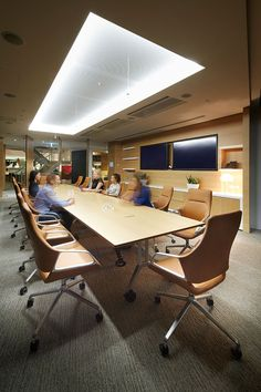 QBE HQ | Sydney | Davenport Campbell | GRAPH conference chair and CONFAIR folding table by #Wilkhahn