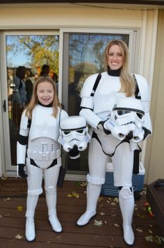 Homemade storm trooper costumede with foam paper great step mom and daughter star wars storm trooper costumes solutioingenieria Gallery