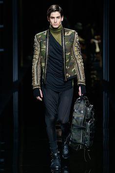 Balmain Fall 2017 Menswear Fashion Show - this was a very unisex collection :)