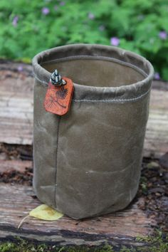 Handmade Waxed Canvas Round Bottomed Ditty Bag by PNWBushcraft