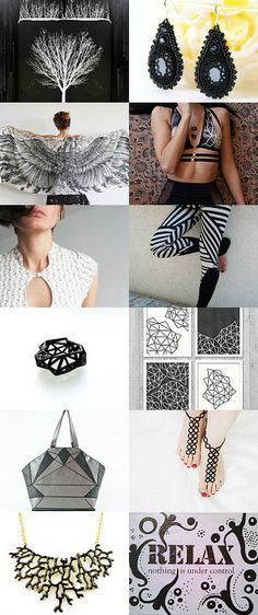 Black and White spirit by Danit Barak on Etsy--Pinned with TreasuryPin.com